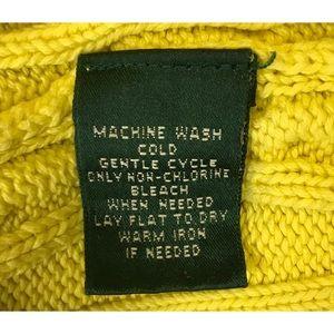 Ralph Lauren Sweaters - Ralph Lauren Yellow Cotton Crew Sweater